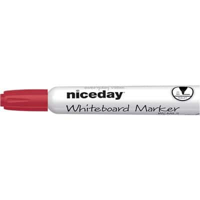Niceday WBM2.5 Whiteboard Marker Bullet Red Pack of 12