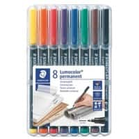 STAEDTLER Lumocolor 318 OHP Marker Fine Felt Tip Assorted Pack of 8