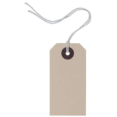 Reinforced Heavy Duty Tag 2 Buff 4.1 x 8.2 cm Pack of 1000