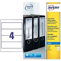 Avery Lever Arch Filing Labels J8171-25 White 100 labels per pack
