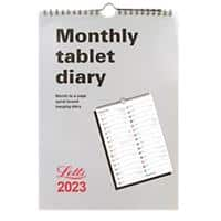 Letts Monthly Tablet Calendar MT A4 2021