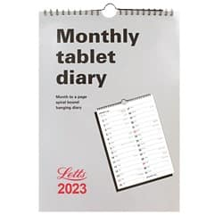 Letts Monthly Tablet Calendar MT A4 2019