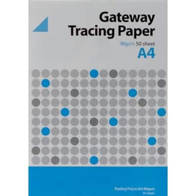 Tracing Paper 90gsm 29.7 cm x 21 cm x 210 mm Clear 50 Sheets