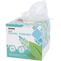 Niceday Professional Facial Tissue Box Standard 2 Ply 100 Sheets