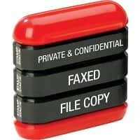 Trodat 3 in 1 Stamp Stack Black, Red