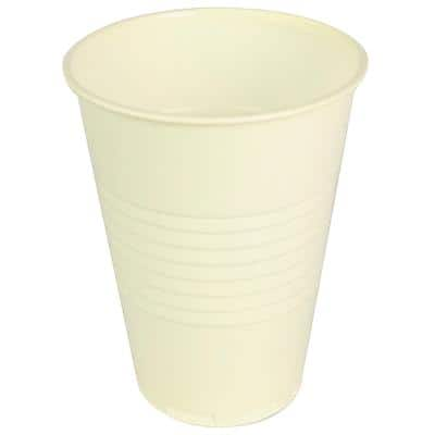 Disposable Cups Plastic 200ml White Pack of 2000