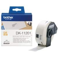 Brother DK-11201 Address Labels, Authentic, Self Adhesive, Black Print on White 29 mm x 90 mm, 400 Labels