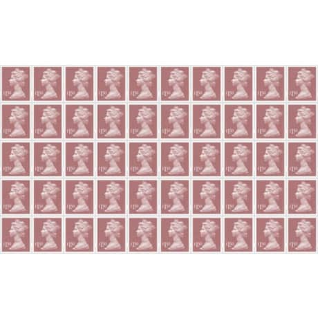 Royal Mail £1.50 Postage Stamps 50 pieces