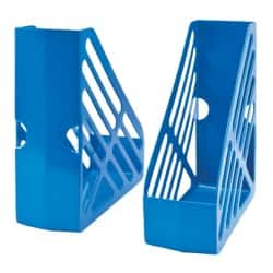 Office Magazine Rack File Foolscap Blue