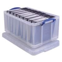Really Useful Boxes Storage Box Extra 64 L Transparent Plastic 31 x 44 x 71 cm