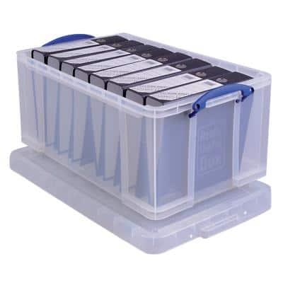 Really Useful Box Plastic Storage Clear 64 Litre 440 x 710 x 310 mm