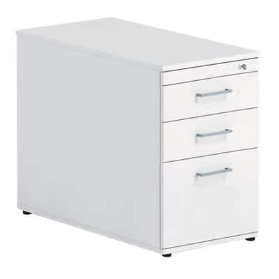 Desk High Pedestal PSS837 White 415 x 800 x 720 mm