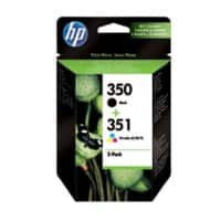 HP 350/351 Original Ink Cartridge SD412EE Black & 3 Colours Pack of 2