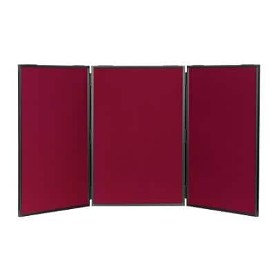 Freestanding Display Stand Nyloop Fabric Lightweight 610 x 915 mm Wine