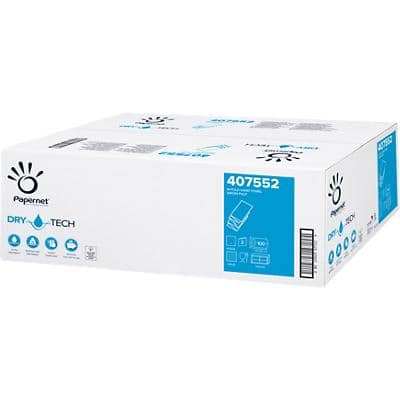Papernet Hand Towels White M-fold 2 Ply Paper 20 Sleeves of 100 Sheets