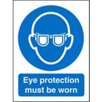 Mandatory Sign Eye Protection PVC 15 x 20 cm