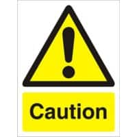 Warning Sign Caution PVC 15 x 20 cm