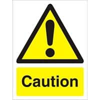 Warning Sign Caution Plastic 20 x 15 cm