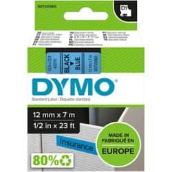 DYMO Labelling Tape 45016 12 mm x 7 m black / blue