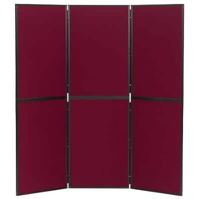 Freestanding Display Stand Nyloop Fabric Foldaway 610 x 915mm Red