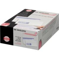 PROFESSIONAL DL Envelopes 225 x 112 mm Window 90gsm White Pack of 500