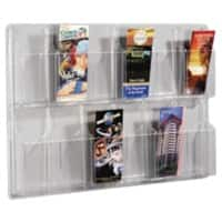 helit Literature Display Wall Mounted 12 x 1/3 A4 Clear