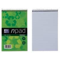 OXFORD Notepad 125 x 200 mm Ruled Green 60 Sheets