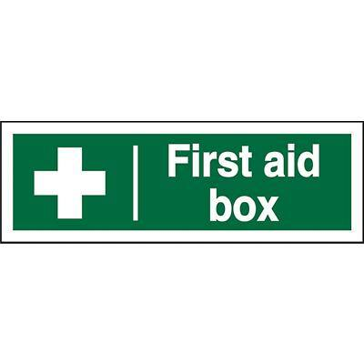 First Aid Sign First Aid Box PVC 30 x 10 cm
