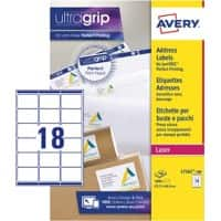 Avery Address Labels L7161-100 White 1800 labels per pack