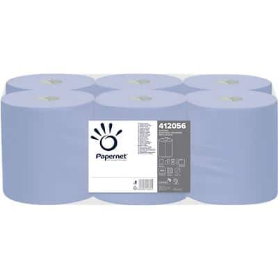 Papernet Hand Towels 2 Ply Rolled Blue 6 Rolls of 450 Sheets
