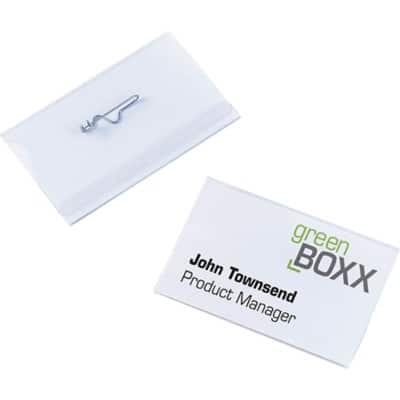DURABLE Standard Name Badge with Pin 8004-19 90 x 54 mm 50 Pieces