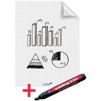 Legamaster Whiteboard Foil Magic A1 Squared 25 Sheets