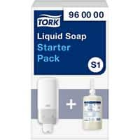 Tork S1 Starter Pack Soap Dispenser and Refill 1 L White