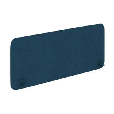 Desk Screen GE4 Fabric Wrapped 1200 x 350 mm Blue