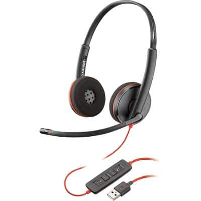 Plantronics Blackwire C3220 Wired Headset Black