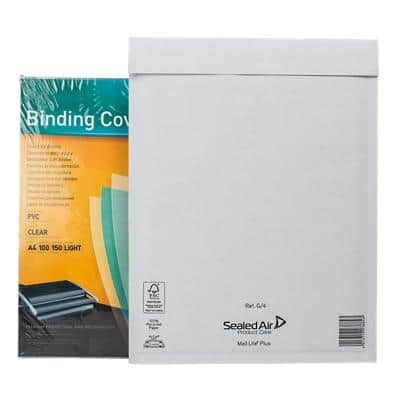 Mail Lite Plus Padded Envelopes Non Standard 240 (W) x 330 (H) mm Peel and Seal White Pack of 50