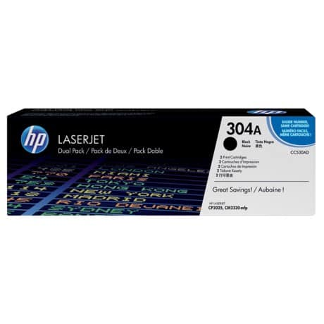 HP 304A Original Toner Cartridge CC530AD Black 2 pieces