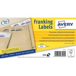 Avery Franking Labels FL04 White 1000 labels per pack