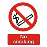 Prohibition Sign No Smoking with Logo PVC 15 x 20 cm