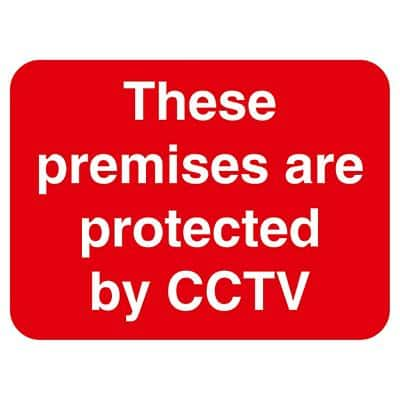 Warning Sign Cctv PVC 40 x 30 cm