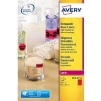 Avery Zweckform Labels L7263R-25 Red 350 pieces