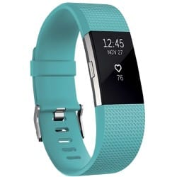 Fitbit Activity Tracker Charge 2 Large Light Blue, Silver