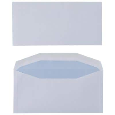 Niceday Mailing Wallet Envelopes 235 x 114mm Gummed Plain 90gsm White Pack of 500
