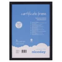 Niceday Wall Mountable Wooden Certificate Frame 978931 A4 294 x 210 mm Black