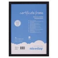 Niceday Wooden Certificate Frame A4 297 x 210 mm Black