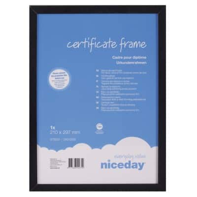 Niceday Wooden Certificate Frame A4 294 H x 210 W mm Black