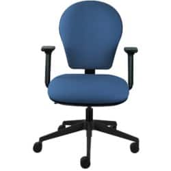 Energi-24 'Posture task' office operators chair in blue fabric