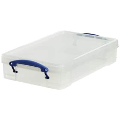 Really Useful Boxes Storage Box UB4LC 4 L Transparent Plastic 8.8 x 39.5 x 25.5 cm