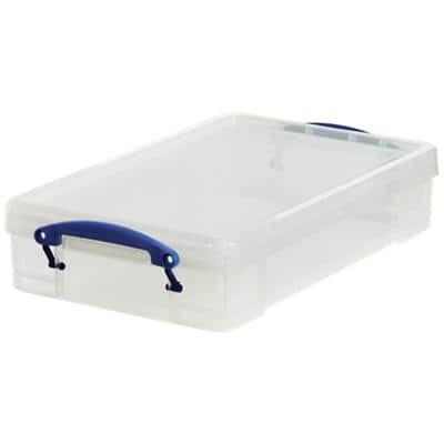 Really Useful Boxes Storage Box UB4LC 4 L Transparent Plastic 39.5 x 25.5 x 8.8 cm