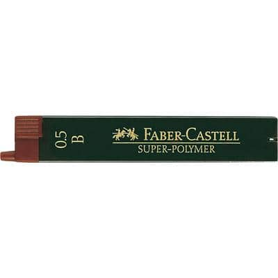 Faber-Castell Pencil Leads Refill Super Polymer 0.5 mm B Black Pack of 12